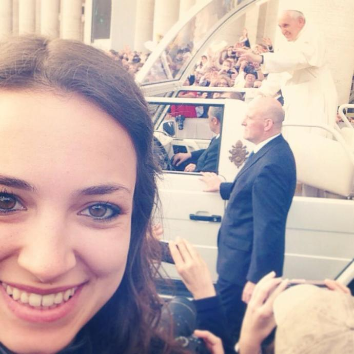 Selfie with Pope Francis